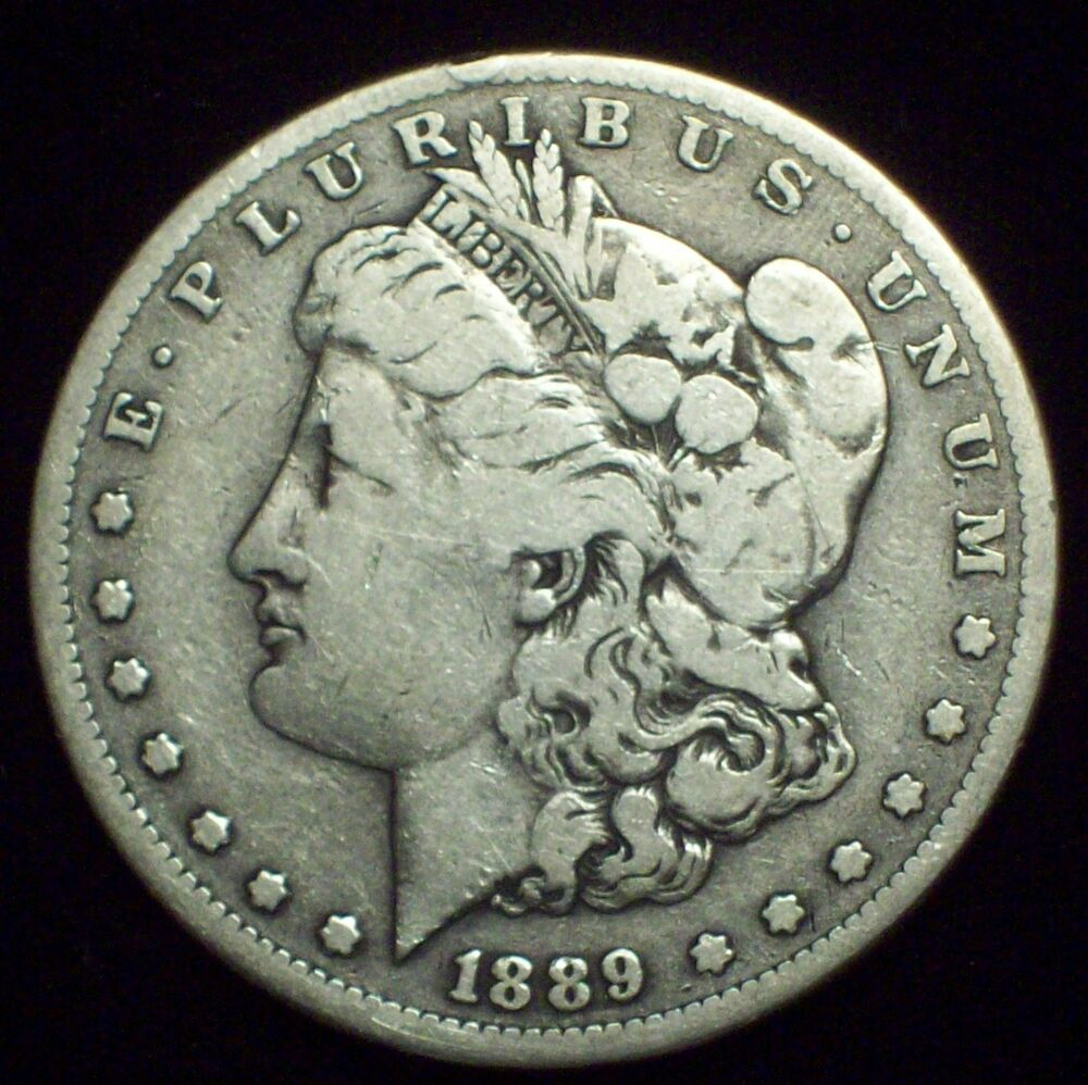 1889 Cc Morgan Silver Dollar Fine Detailing Authentic
