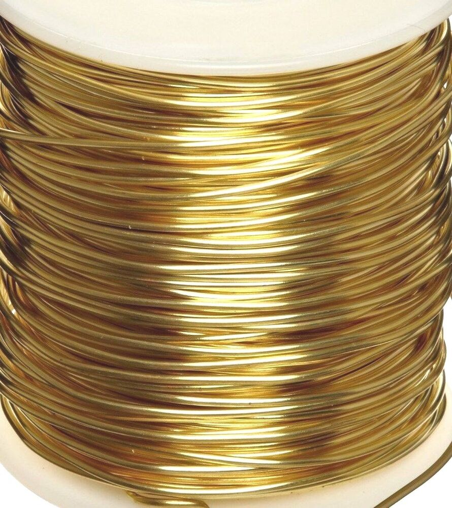 Gold Brass Wire Round 12-26 Gauge Soft Temper Made in USA