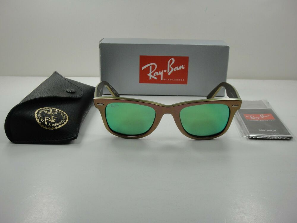 26e2ac787b9 Details about RAY-BAN WAYFARER COSMO SUNGLASSES RB2140 611019 GREEN GREEN  FLASH LENS 50MM