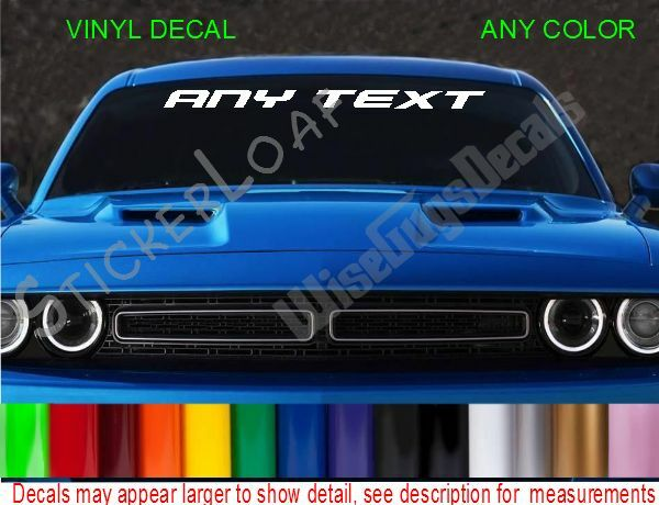 Custom Car Decals: CuStOm Windshield Decal Personalized ANY TEXT Sticker