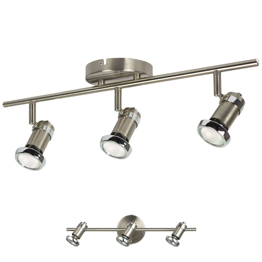 3 Light Track Lighting Wall Or Ceiling Spot Light Fixture