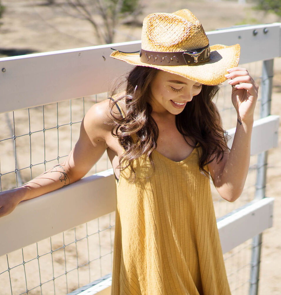 d28975d389054 ... Straw Cowboy Hat Rodeo  New Fashion Comfortable Cowgirl Cowboy Western  Style Straw