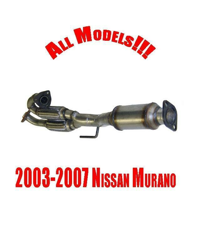 Rear Catalytic Converter With Engine Flex Pipe For 03 07