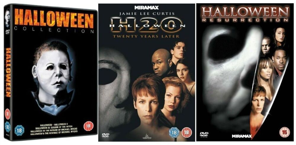 HALLOWEEN Movies Films Complete DVD Collection Part 1+2+3 ...