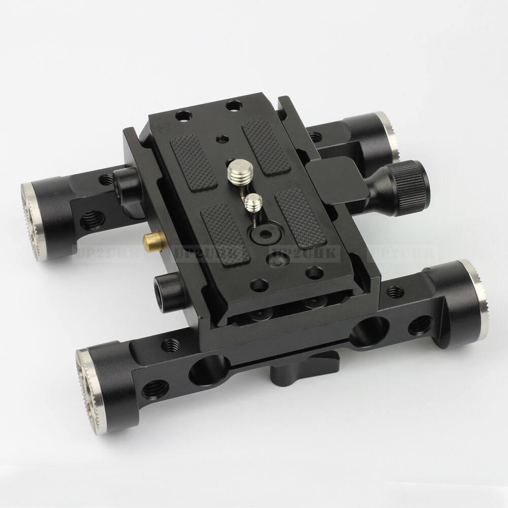 Arri type rosette clamp dovetail quick release base plate