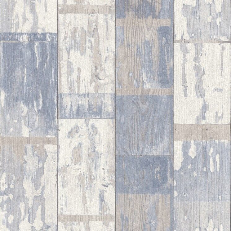 Paste the wall textured aged distressed painted blue wood - Carrelage imitation lambris ...