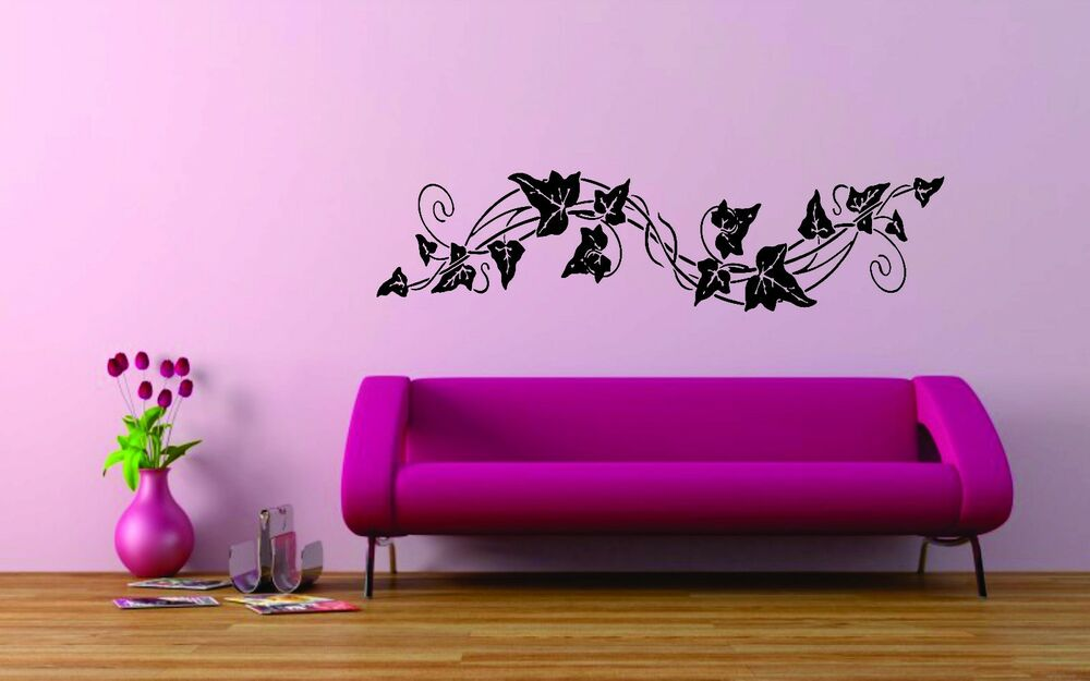 Wall decor vinyl sticker home room decal art grape vine for Decorative mural