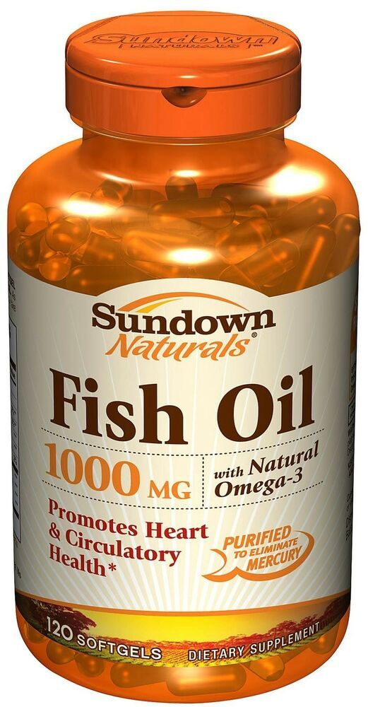 Sundown fish oil 1000 mg softgels 120ct ebay for Fish oil 1000 mg