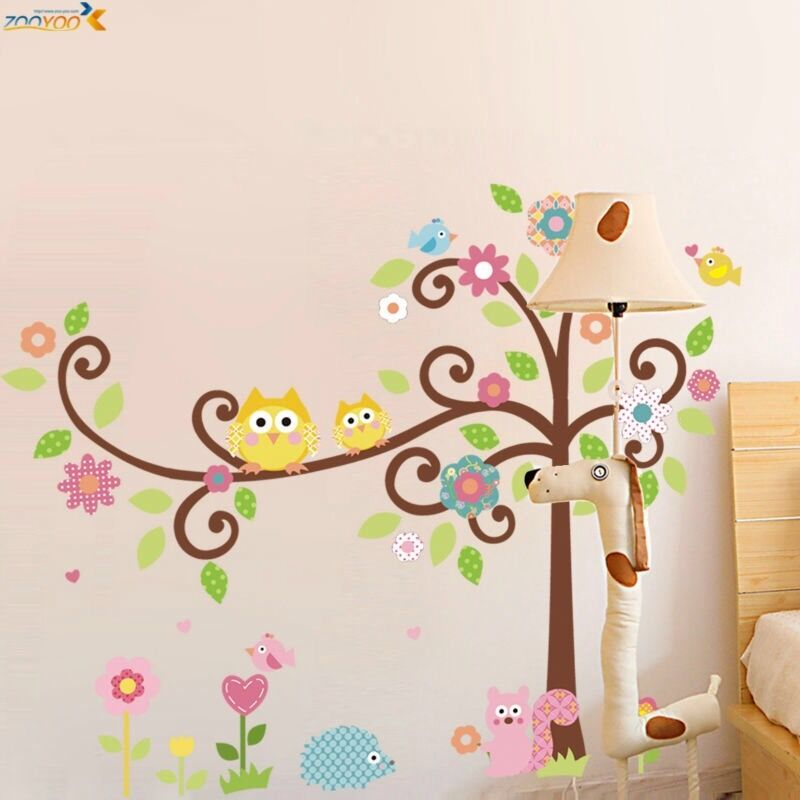 owl amp tree animals wall sticker nursery kids room decal ebay kids wall sticker decorations ebay