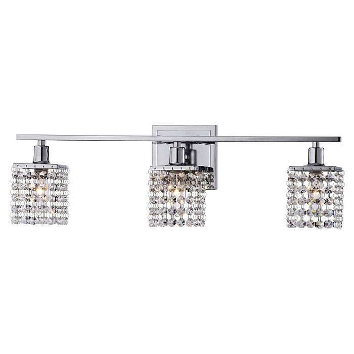 Modern 3 light crystal wall sconce pendant fixture lamp for Bathroom vanity pendant lighting