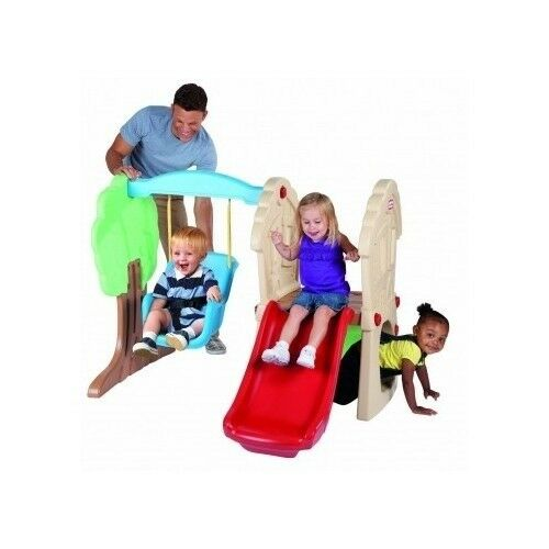 Toddler swing set slide small little tikes climbing for Little tikes outdoor playset