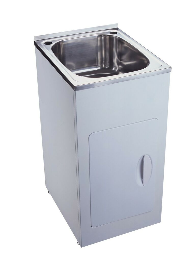 New 35 litre stainless steel laundry tub cabinet buy for Metal sink cabinet