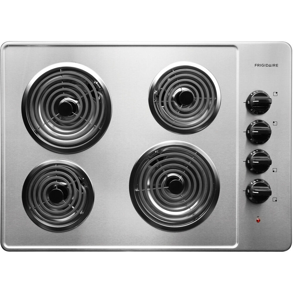 frigidaire ffec3005ls 30 coil top electric cooktop stainless steel new 57112990132 ebay. Black Bedroom Furniture Sets. Home Design Ideas