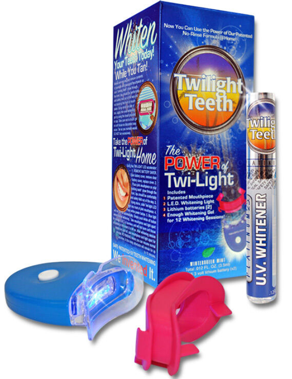 twilight teeth at home or while tanning uv light teeth whitening kit. Black Bedroom Furniture Sets. Home Design Ideas