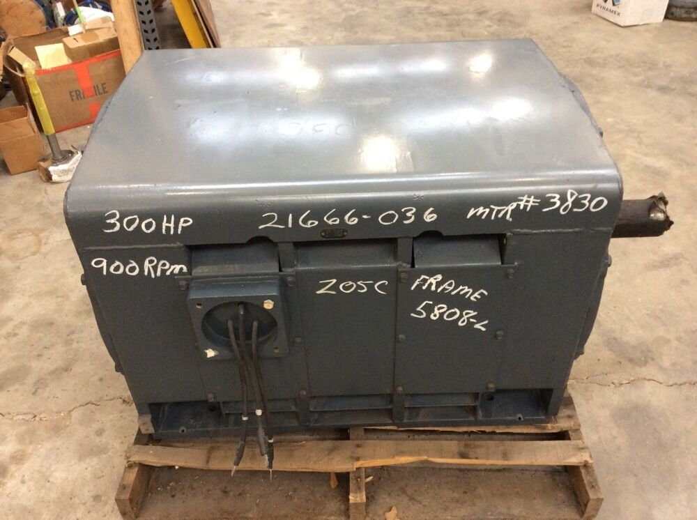 Westinghouse 300 hp lac induction motor mhsw1 frame 5808 l 300 hp motor