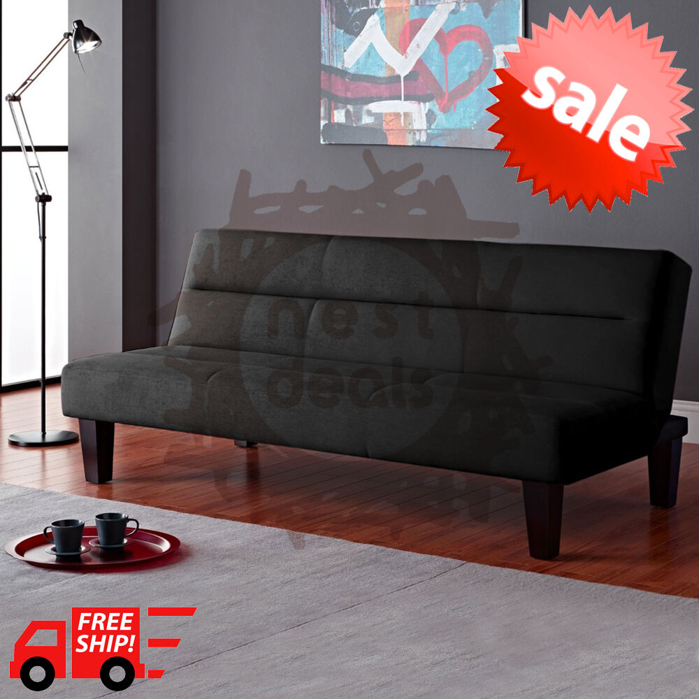 Modern Futon Sofa Bed Convertible Couch Living Room