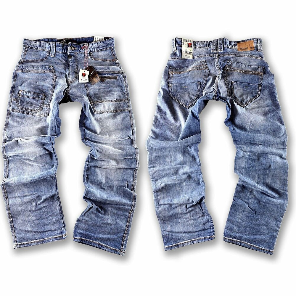 timezone herren jeans hose clay 3783 hellblau gr en w hlbar neuware ebay. Black Bedroom Furniture Sets. Home Design Ideas