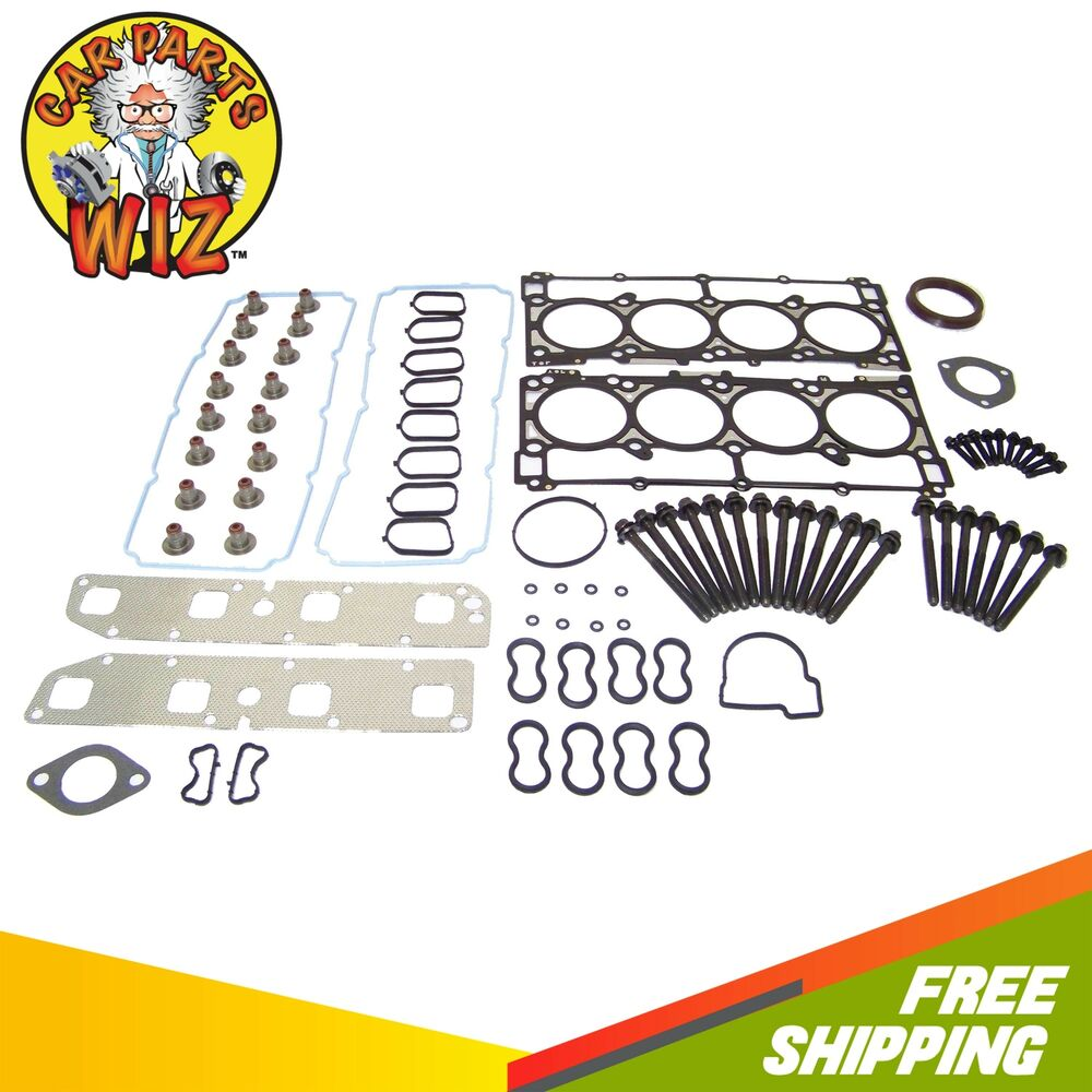 head gasket set bolts fits 07 08 jeep grand cherokee. Black Bedroom Furniture Sets. Home Design Ideas