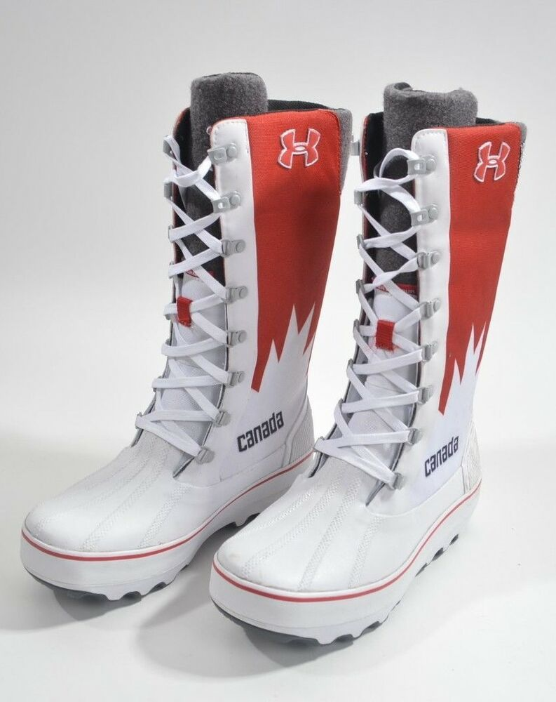 033517f02d0 2014 WOMENS UNDER ARMOUR CANADA OLYMPIC OPENING CEREMONY BOOTS SIZE 9  LIMITED EBay