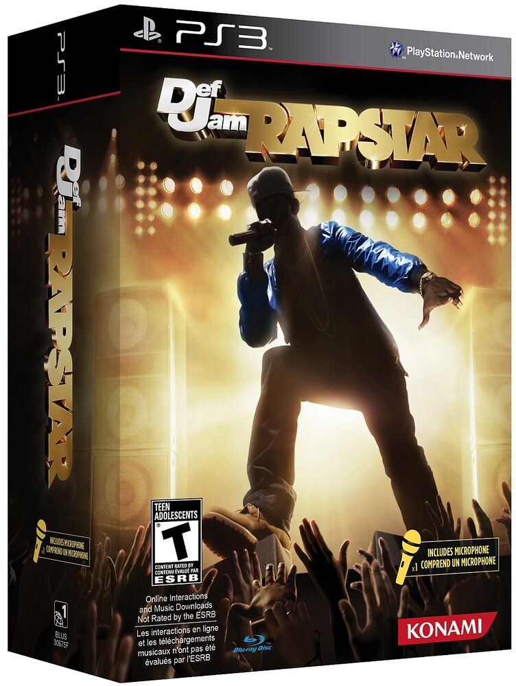 New Playstation 3 Games : Brand new ps def jam rapstar game microphone bundle