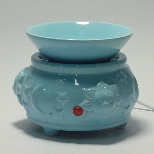 Electric Tart Burners ~ Electric tart burner oil warmer baby blue w sun stars