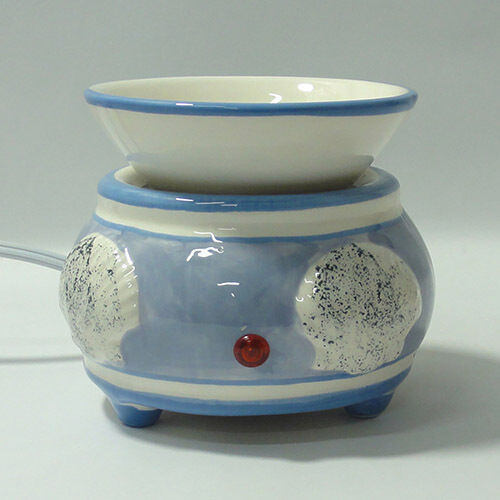 Electric Tart Burners ~ Electric tart burner oil warmer blue sea shells aroma