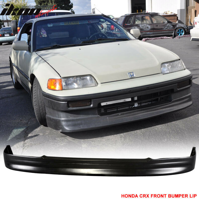 88 91 honda crx cs style front bumper lip urethane ebay. Black Bedroom Furniture Sets. Home Design Ideas