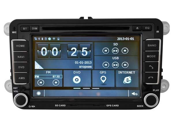 autoradio dvd gps blut 39 th ipod navi radio player vw. Black Bedroom Furniture Sets. Home Design Ideas