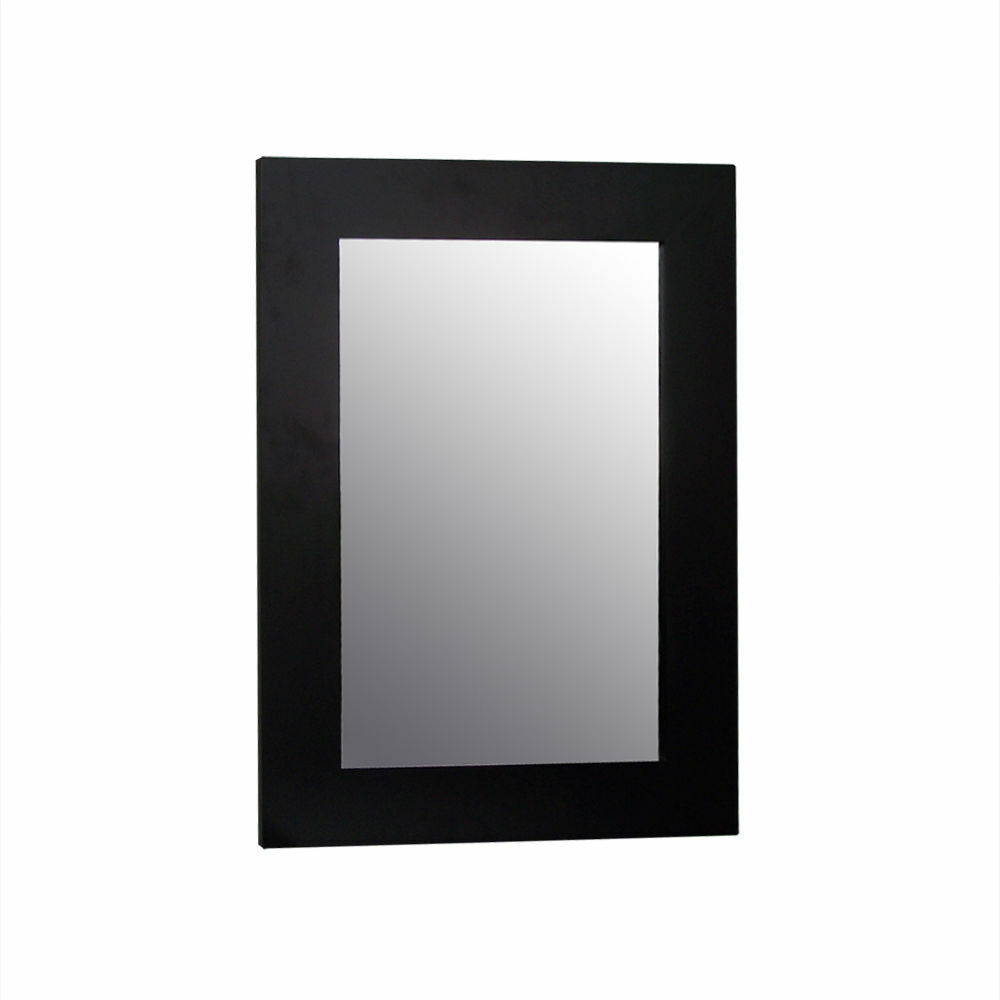 Chatham Modern Wall Mounted Bathroom Mirror With Frame White Or Espresso Ebay