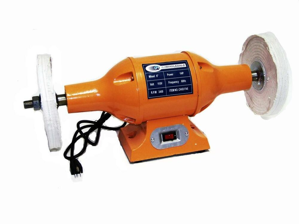 Heavy Duty 8 Long Shaft 1hp Top Bench Buffer Polisher Grinder Cleaner Ebay