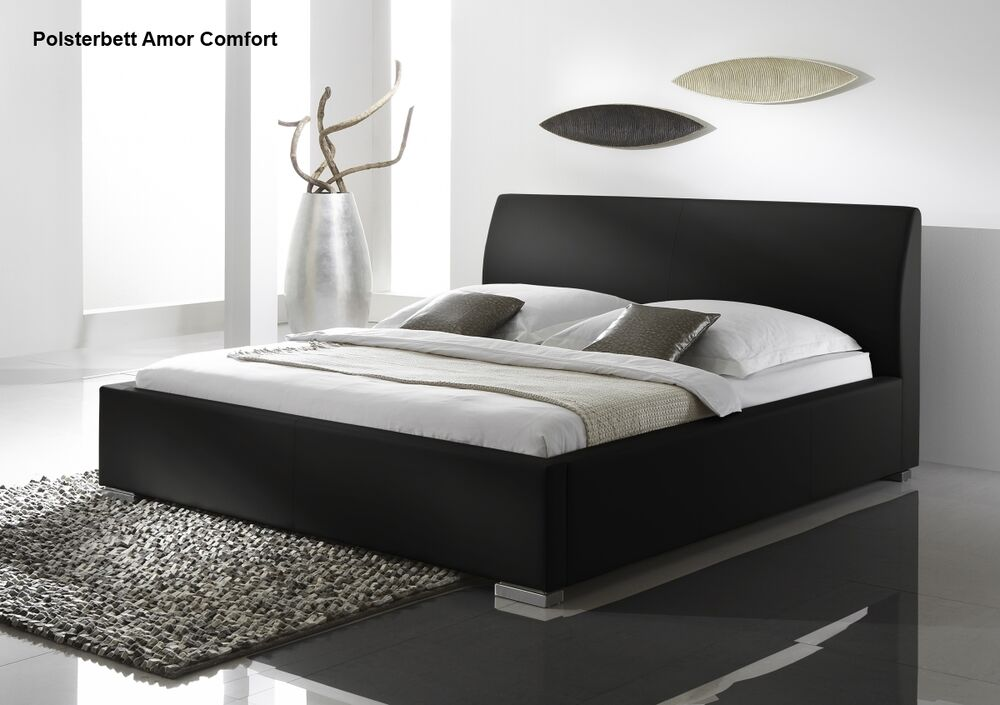 designer leder bett polsterbett lederbett schwarz wei beige braun g nstig ebay. Black Bedroom Furniture Sets. Home Design Ideas