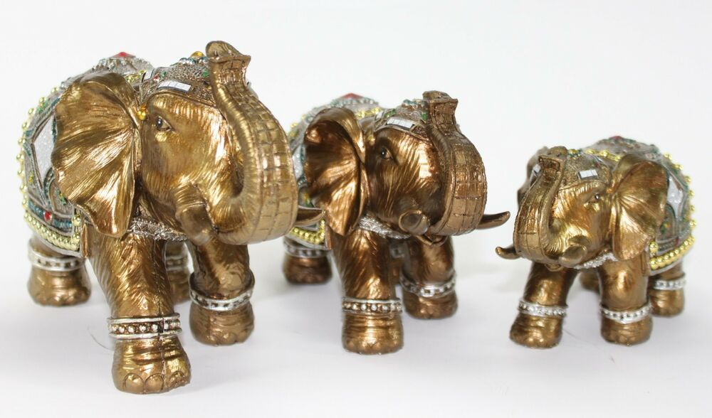 Gold Elephant Home Decor