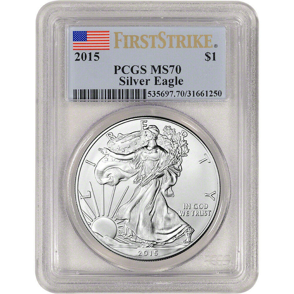 2015 American Silver Eagle Pcgs Ms70 First Strike Ebay