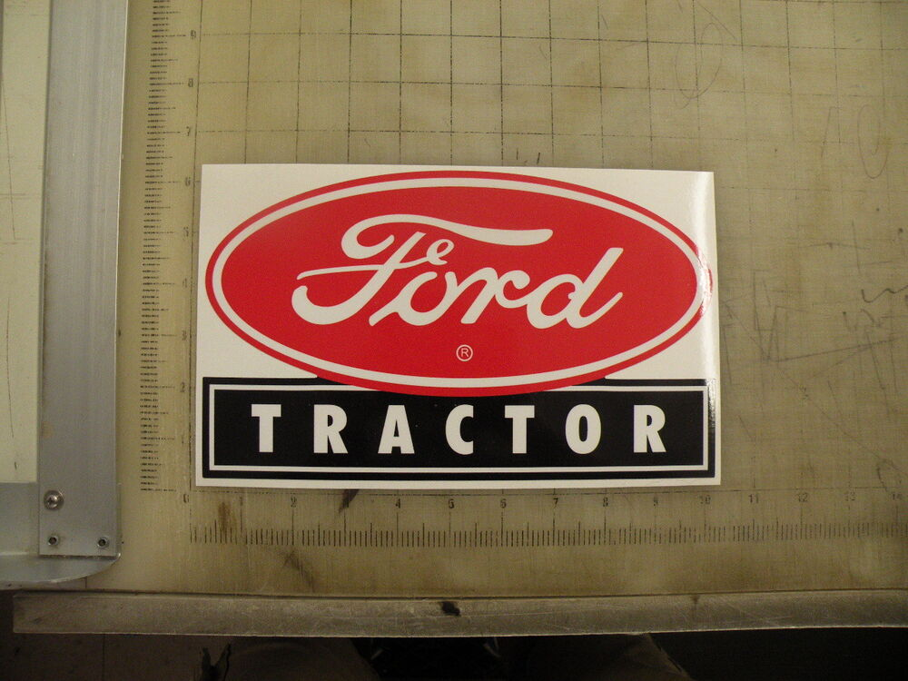 Old Ford Tractor Decals : Vintage ford tractor sticker decal quot x ebay