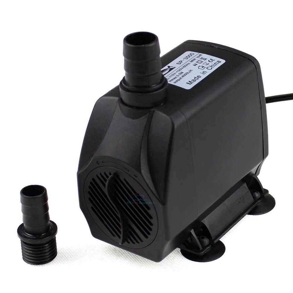 1058 gph submersible water pump aquarium pond fish for Pond water pump