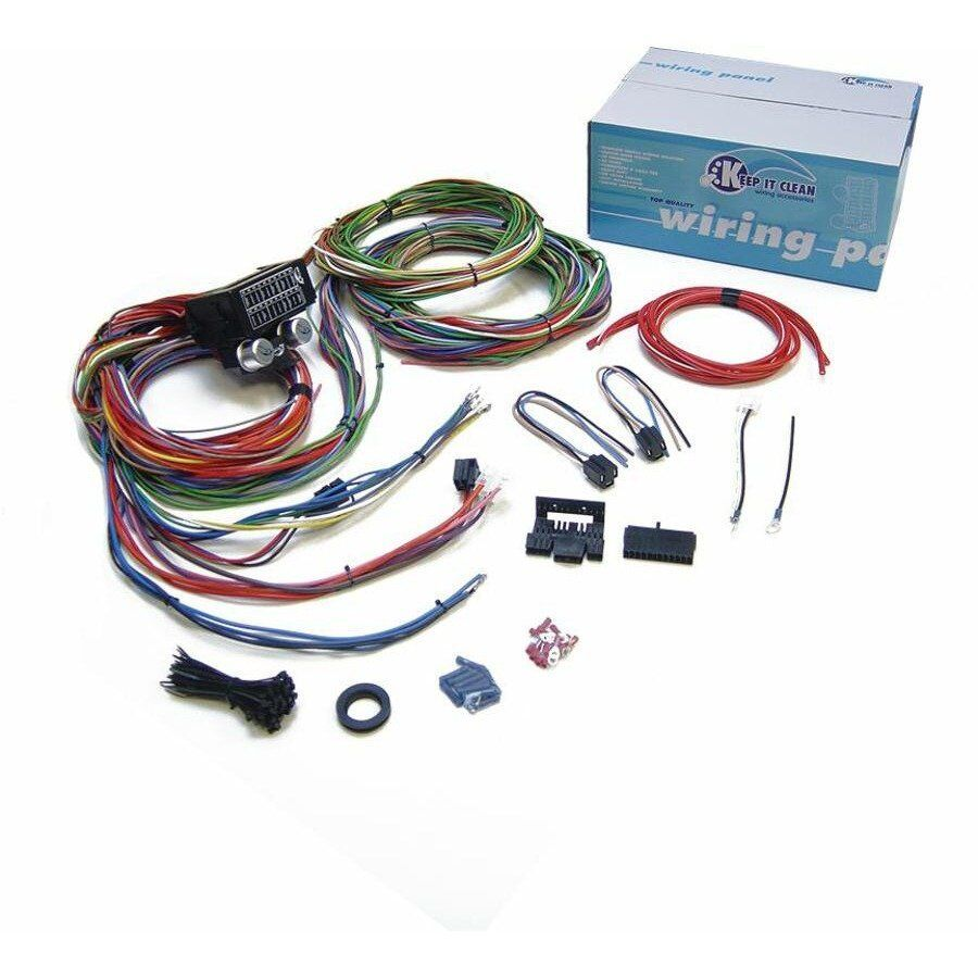 15 fuse complete nose to tail gm wiring harness 12v fuse auto wiring harness connector kit Ford Wiring Harness