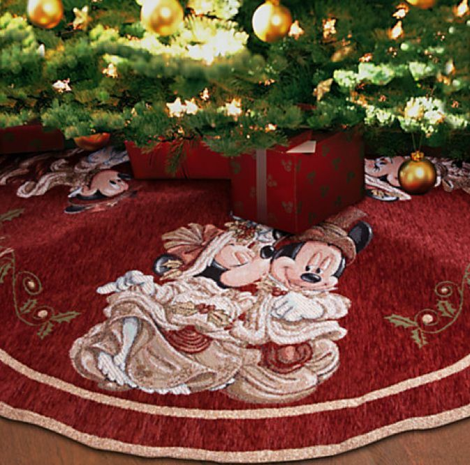 New Disney Parks Mickey and Minnie Mouse Victorian Holiday Christmas Tree  Skirt 400020805287 | eBay - New Disney Parks Mickey And Minnie Mouse Victorian Holiday Christmas