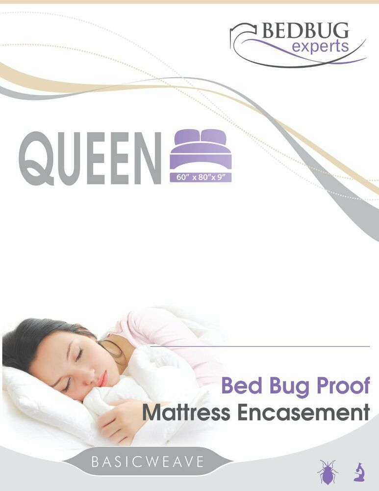 Bed Bug Mattress or Box Spring Encasement Queen Size 60 X