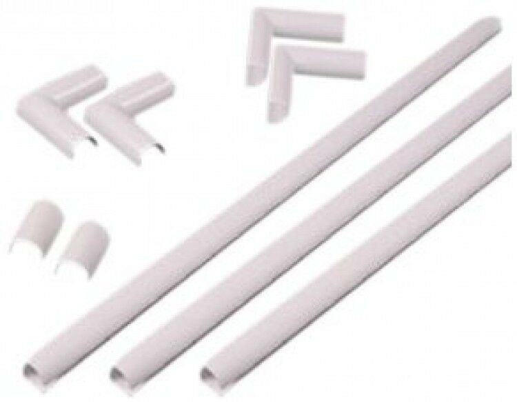 wiremold c110 white cordmate kit new free shipping ebay. Black Bedroom Furniture Sets. Home Design Ideas