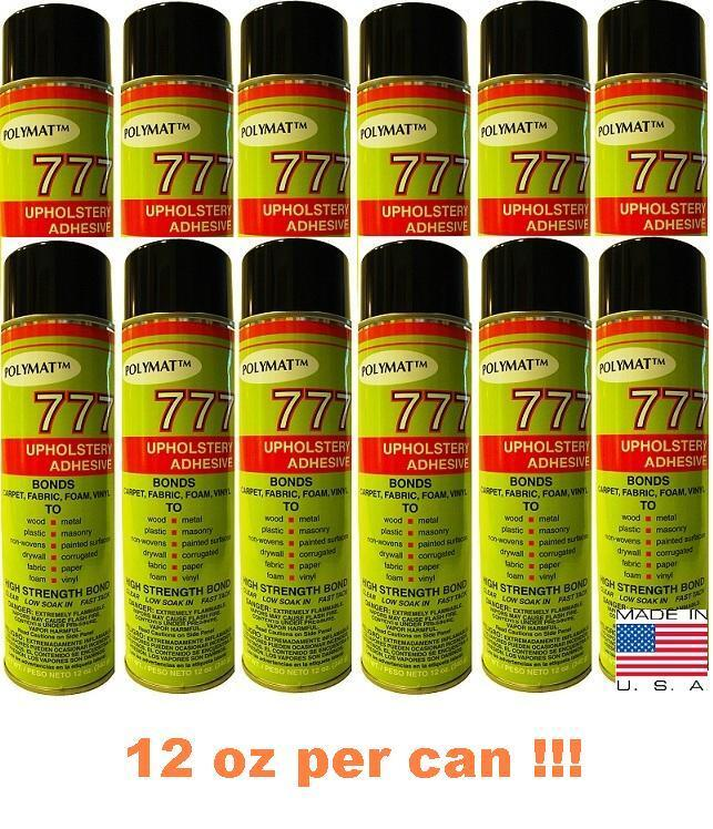12 20oz glue cans polymat 777 industrial spray adhesive. Black Bedroom Furniture Sets. Home Design Ideas