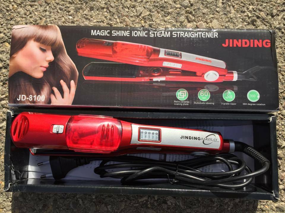 Jd 8100 Red Ceramic Steam Straightener Straight For Hair