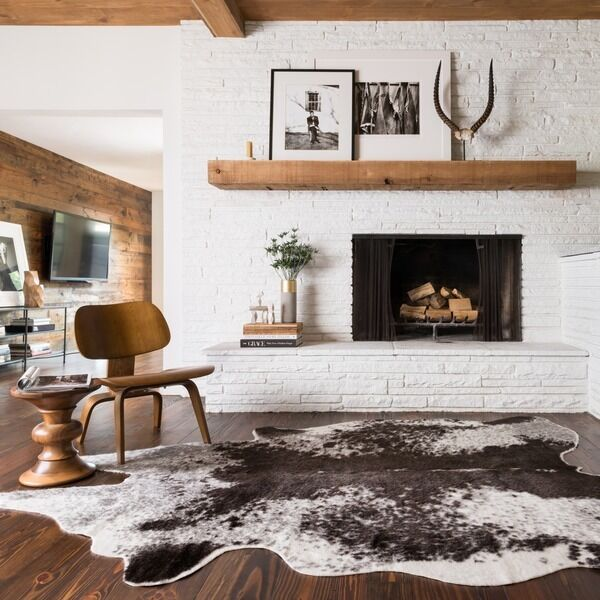 New Cowhide Grey Ivory Area Rug Faux Cow Rawhide Animal