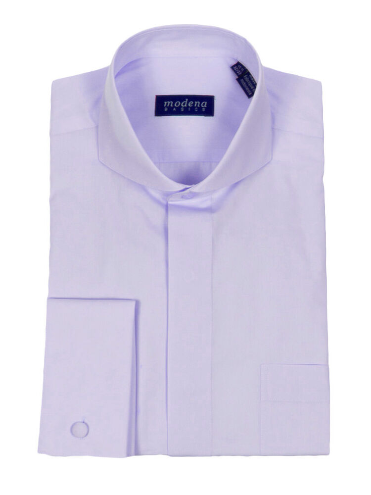 modena british cutaway collar french cuff dress shirt