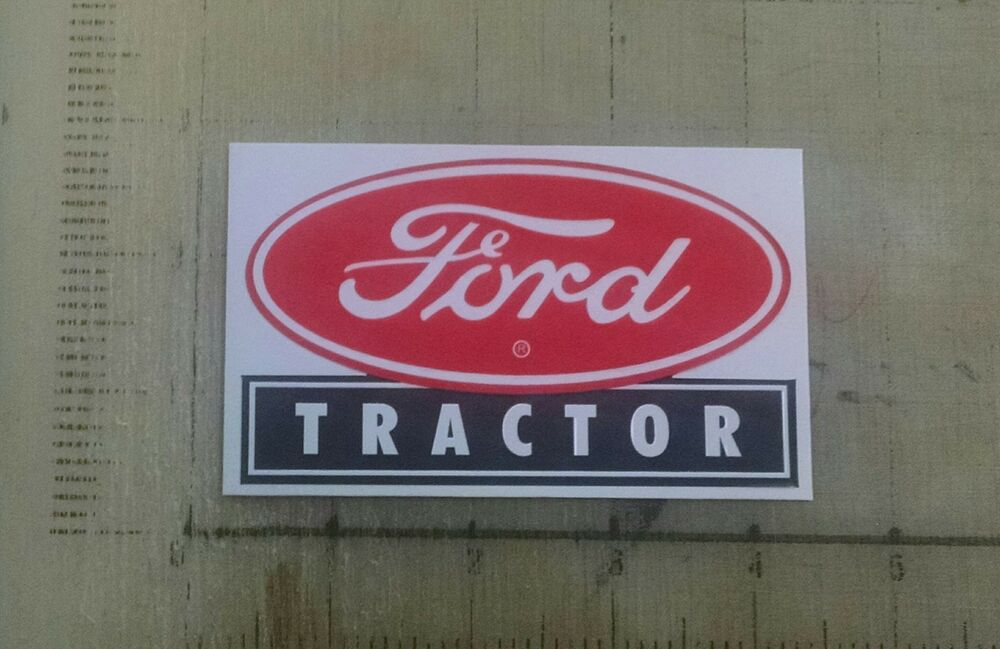 Old Ford Tractor Decals : Vintage ford tractor sticker decal sign quot x ebay