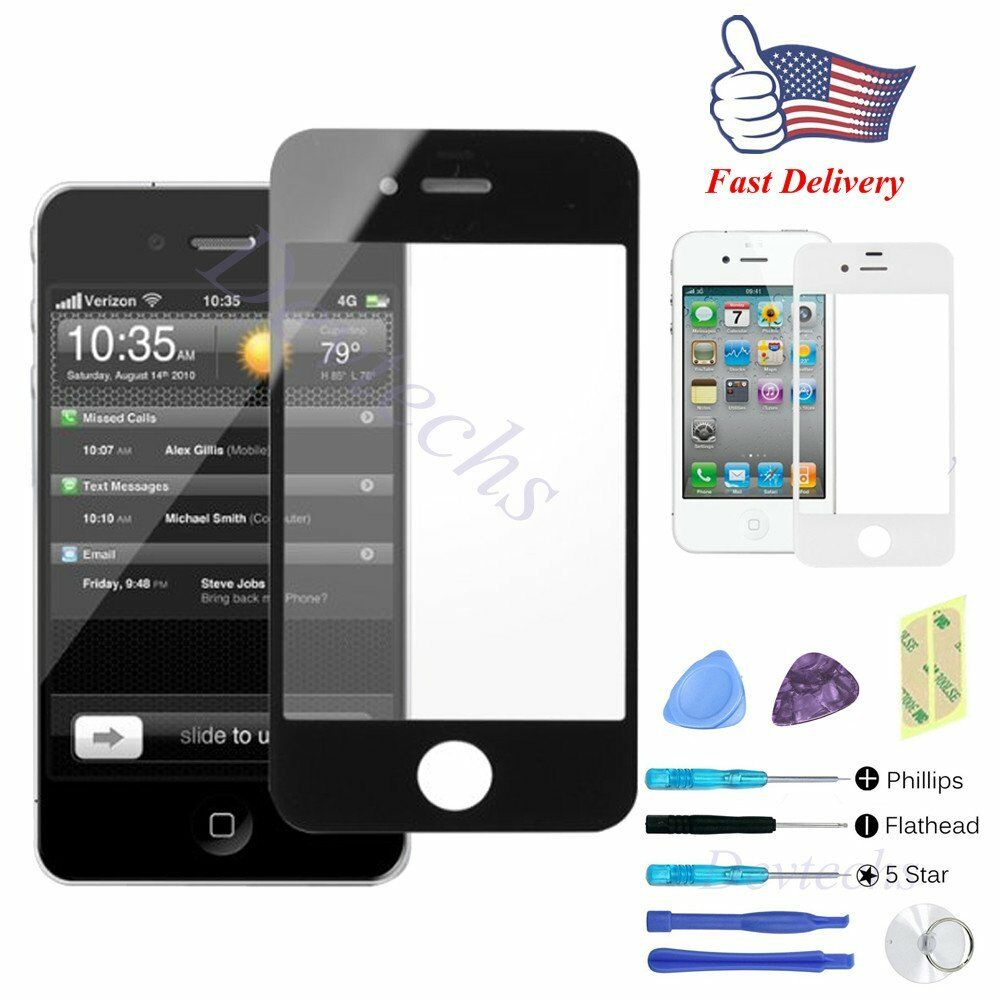 Eyeglass Repair Kit For Iphone : for Apple iPhone 4S Front Outer Screen Glass Lens ...