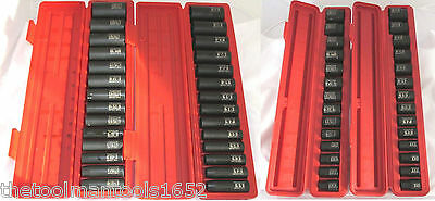 TEKTON 60PC 1/2'' DR. DEEP IMPACT and SHALLOW SOCKET SETS SAE/METRIC