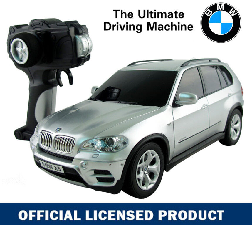 1 18 silver bmw x5 electric rc radio remote control car toy official licensed ebay. Black Bedroom Furniture Sets. Home Design Ideas