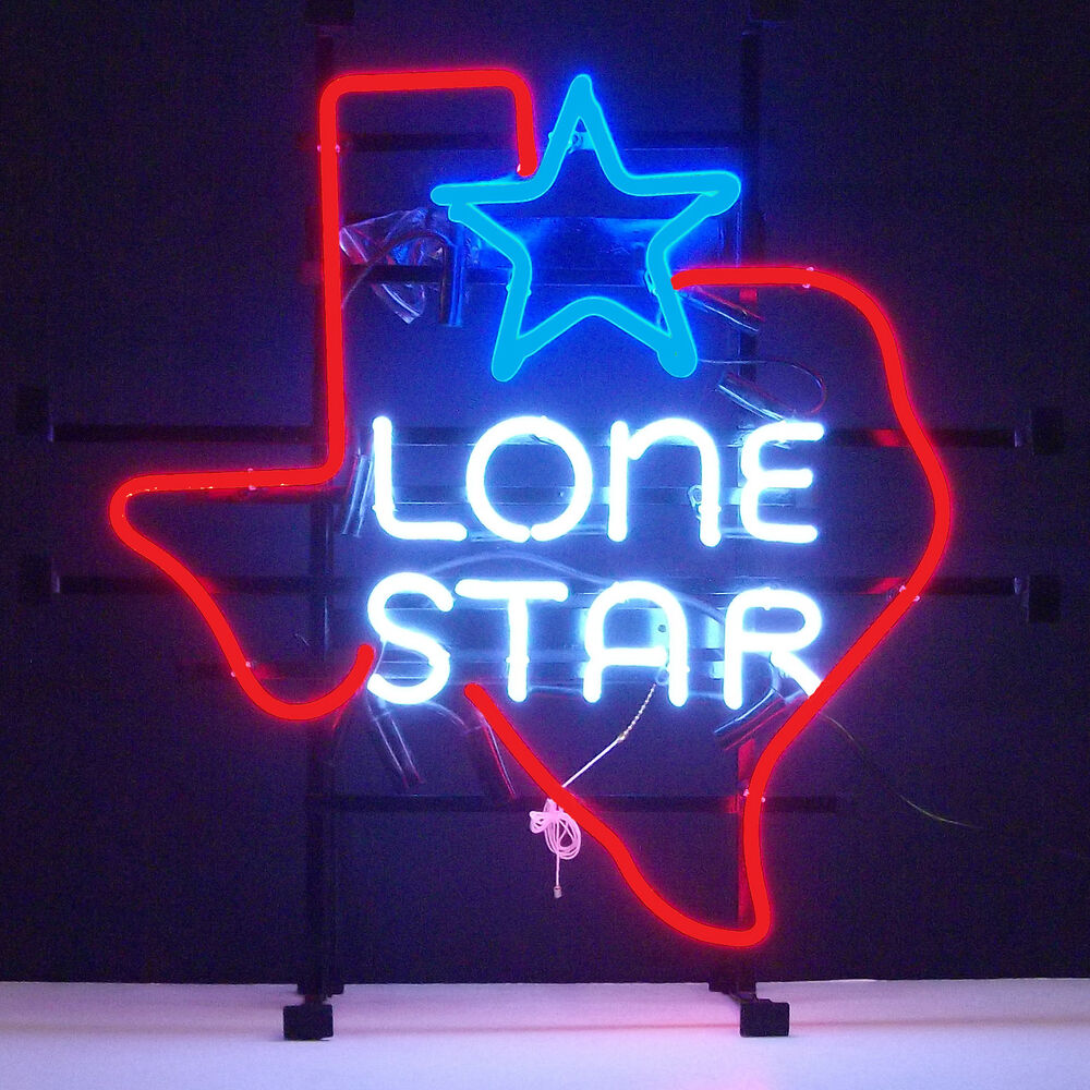 Electric Man Cave Signs : Texas lone star neon sign mancave garage alamo everything