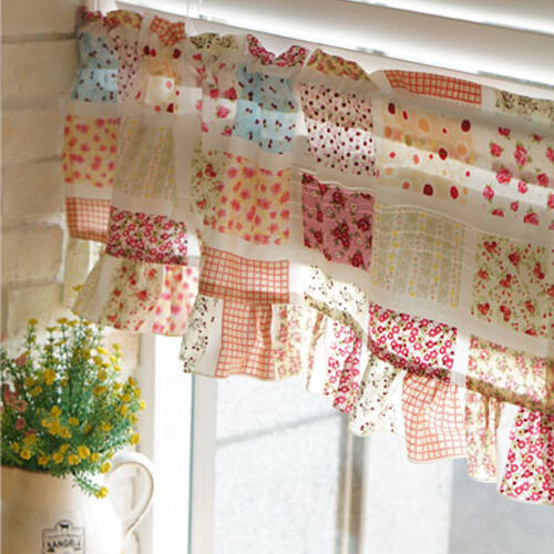 Floral kitchen curtain kitchen valance curtains living room curtains