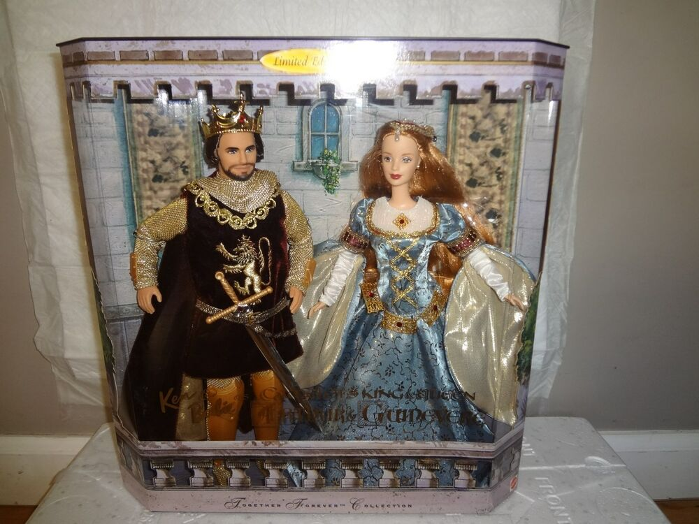 barbie  u0026 ken as camelot u0026 39 s king arthur  u0026 queen guinevere giftset doll nrfb 27084547160